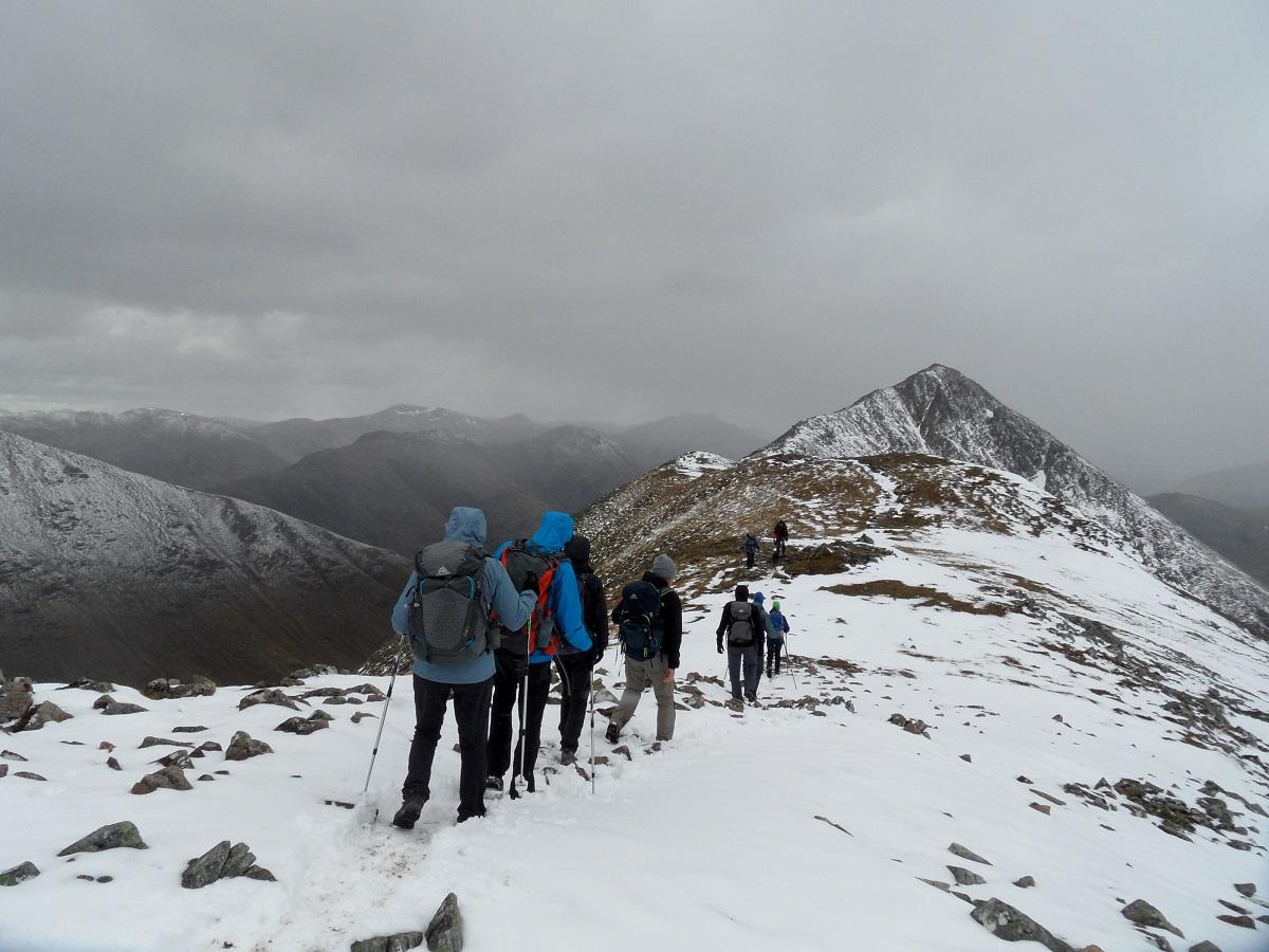 Randonnée neige hiver Ecosse
